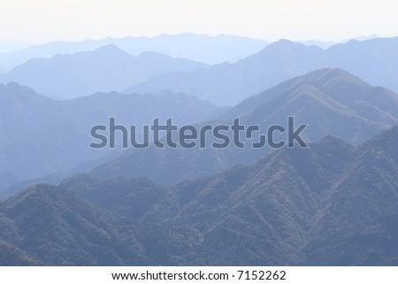 Mountain mist - stock photo