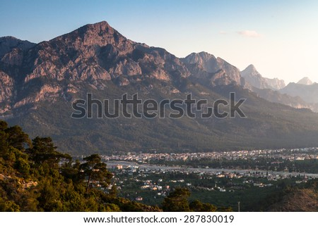 Mountain natural landscape in Kemer region in Turkey