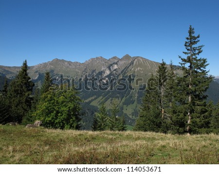 Mountain Near Gstaad Named Primelod - stock photo