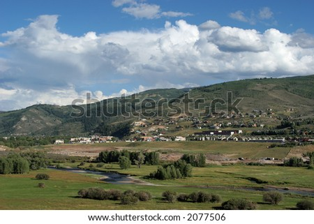 Mountain neighborhood - stock photo