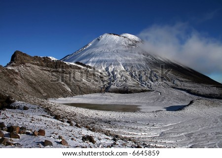 Mountain Ngauruhoe, New Zealand - stock photo