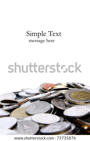 Mountain of money - stock photo