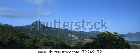 Mountain of the Mount Choungui on the island of Mayotte