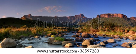 mountain panorama - stock photo