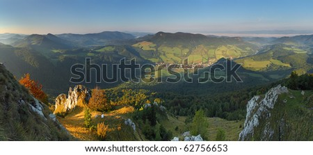 Mountain panorama - stock photo