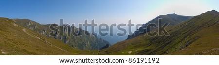 Mountain panorama Bucegi - stock photo