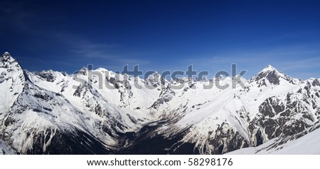 Mountain panorama. Caucasus, Dombay.