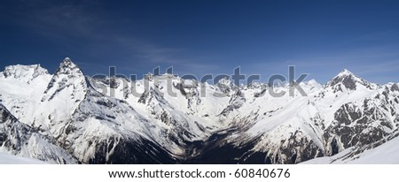 Mountain panorama. Caucasus. Dombay.