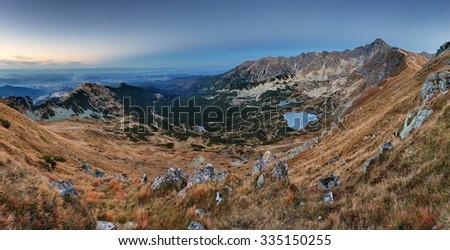Mountain panorama  in Poland Tatras - Rohace , Slovakia - stock photo