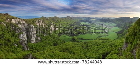 Mountain panorama - Sulov, Slovakia - stock photo