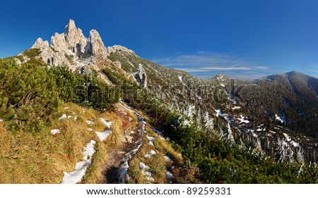 Mountain panorama - West tatras - stock photo