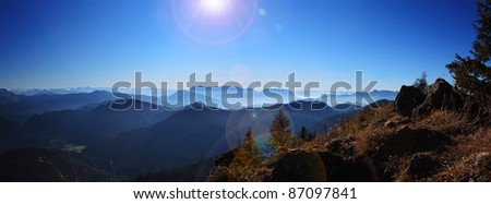 Mountain Panoramic of Bavaria and Austria