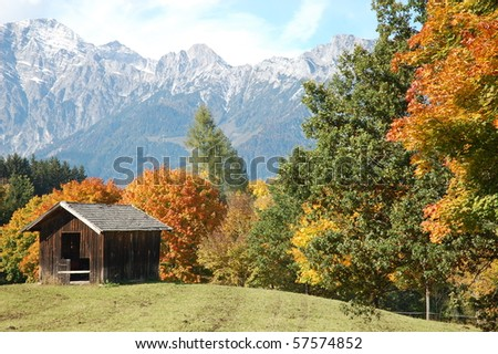Mountain pasture in Zell am See, Austria - stock photo