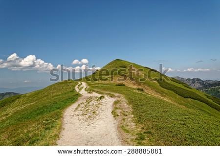 Mountain path - stock photo