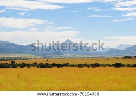 Mountain Peak, Eastern Cape, South Africa - stock photo