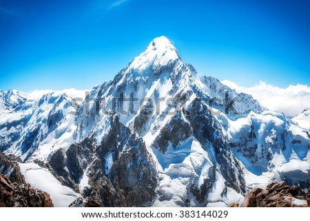 Mountain peak. Everest. National Park, Nepal.