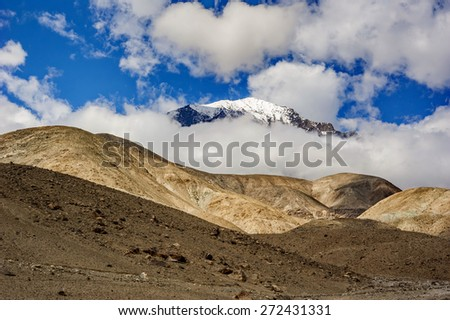 mountain peak of Northern area of Pakistan - stock photo