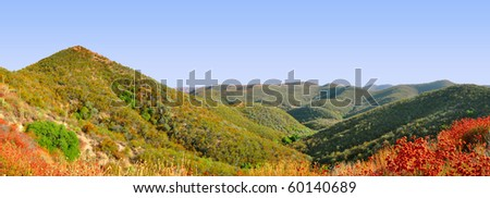 Mountain range in Angeles Forest, Los Angeles California - stock photo