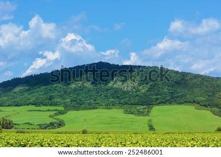 Mountain Range Near Kapushany In Presov District, Slovakia - stock photo