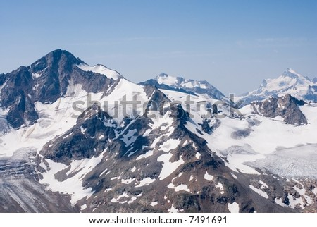 Mountain range of Northern Caucasus
