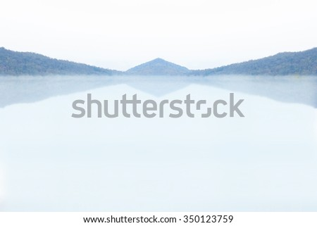 mountain reflected in Lake