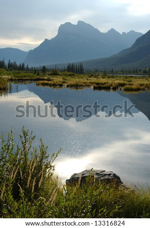 Mountain Reflection on Canadian Lake