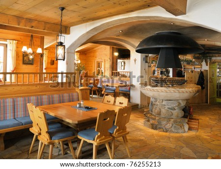 Bar counter restaurant interior stock photo 550966837 for Interior design osterreich