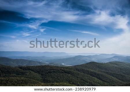 mountain ridge - stock photo