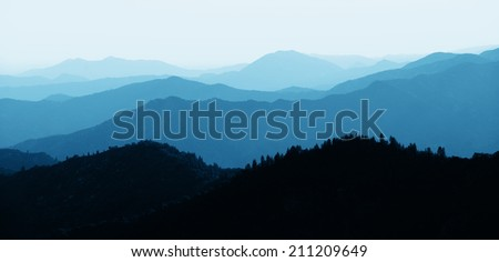 Mountain ridge abstract background from Sequoia National Park