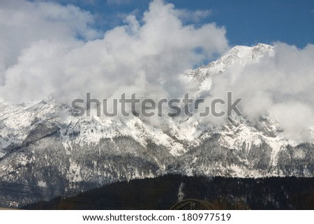 mountain ridge in Alps
