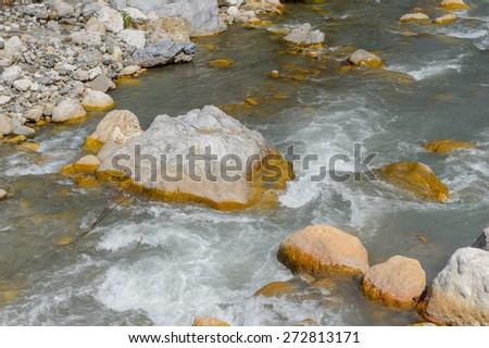 Mountain river - stock photo