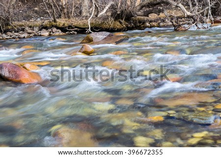mountain river in Kazakhstan in nature