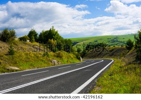 Mountain Road - stock photo