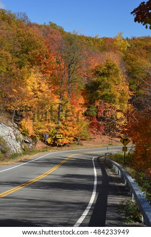 Mountain Road in Autumn
