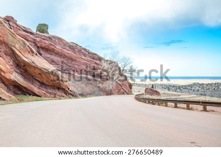 Mountain Road in Colorado Mountains