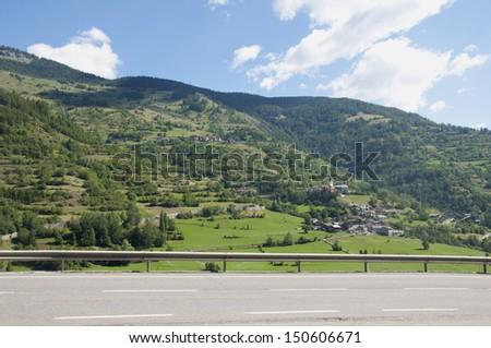 Mountain Road in Italy - stock photo
