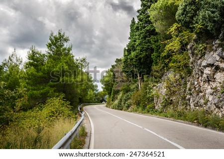 Mountain road in Montenegro, Europe. - stock photo