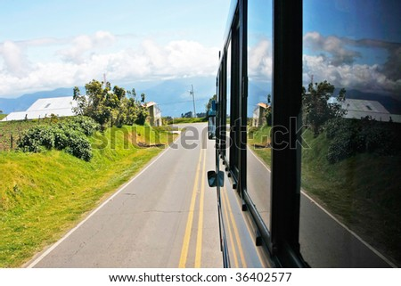 Mountain road in Monteverde (Costa Rica) - stock photo