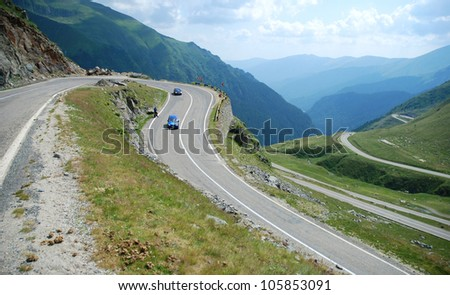 Mountain road in Romania