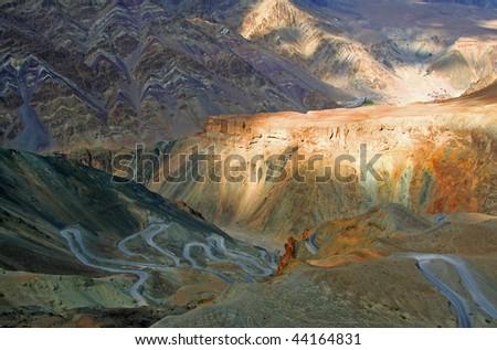 Mountain Road Ladakh India - stock photo