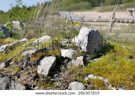 Mountain rocks - stock photo