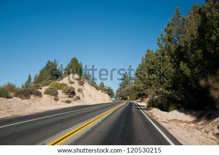 mountain roud - stock photo