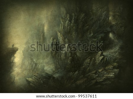 Mountain scenery - stock photo