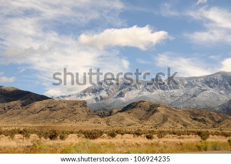 Mountain scenery from the Sandia mountains in New Mexico - stock photo