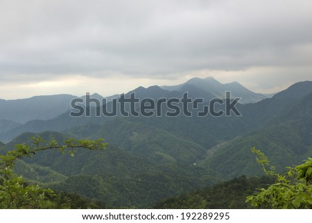Mountain scenery in China