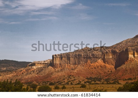 Mountain Scenery near Abiquiu and Ghost Ranch, New Mexico - stock photo