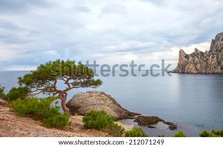 Mountain sea landscape. - stock photo