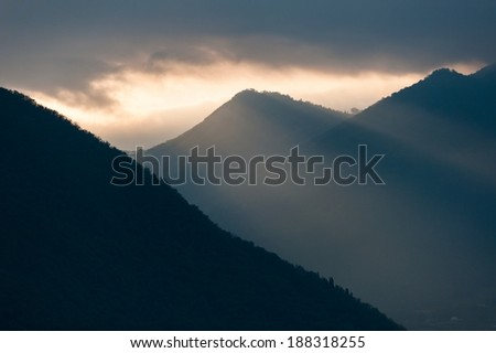 Mountain, shapes
