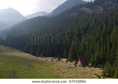 mountain shelter, Stina de Riu, Retezat Mountains, Southern Carpathians, Romania