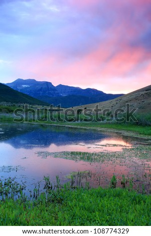 Mountain sky on a summer evening. - stock photo